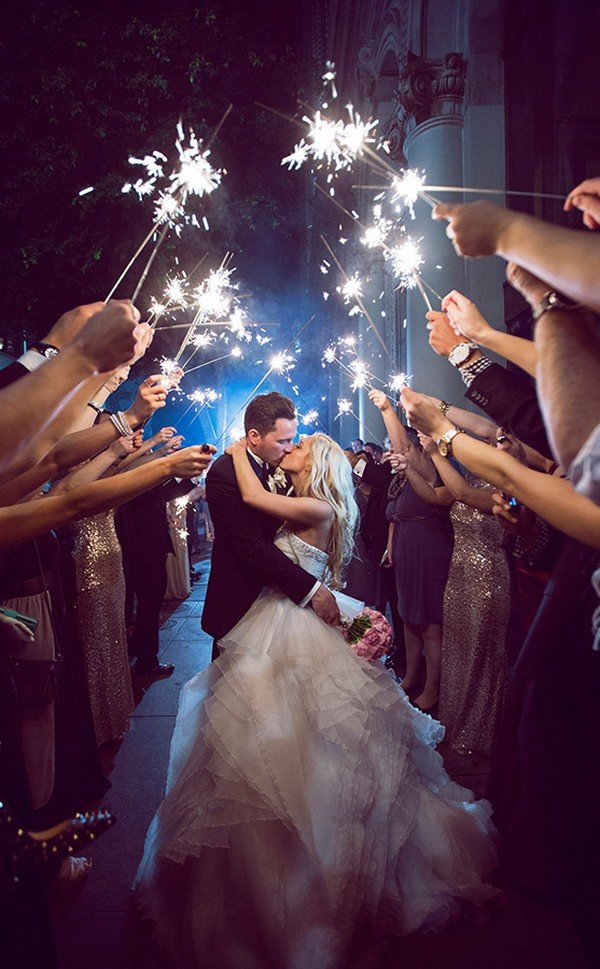 sparkle send off wedding photo ideas