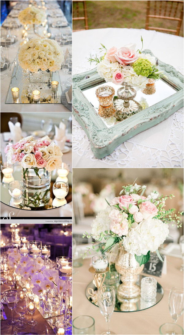 unique wedding centerpiece ideas with mirrors