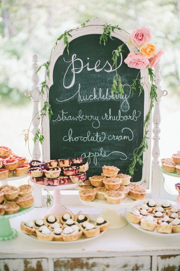 vintage rustic wedding dessert ideas