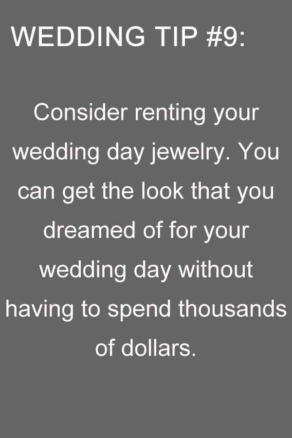 wedding tips for jewelry