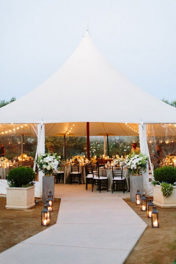 2017 trending rustic chic tented wedding reception ideas