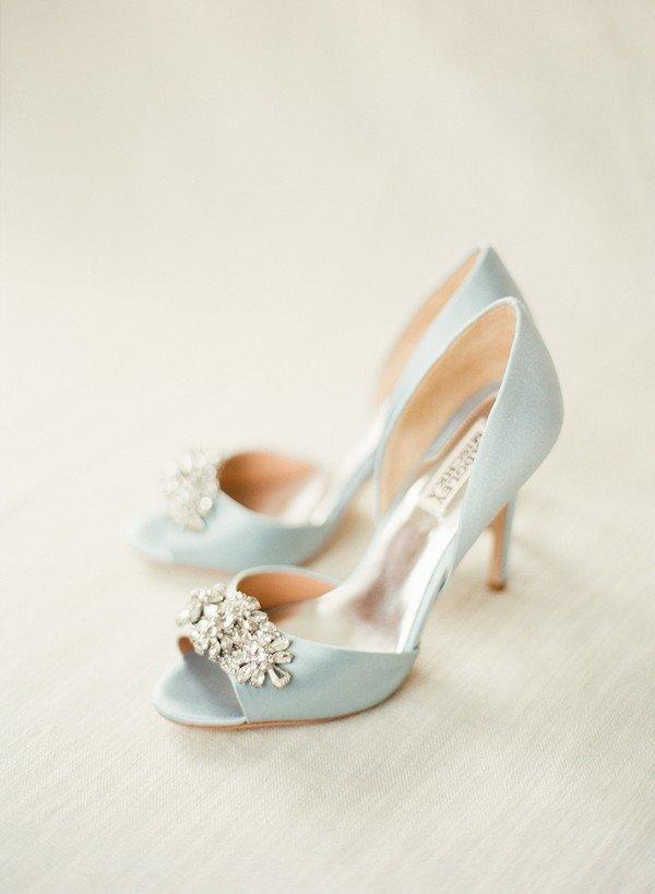 Badgley Mischka Tiffany Blue Wedding Shoes