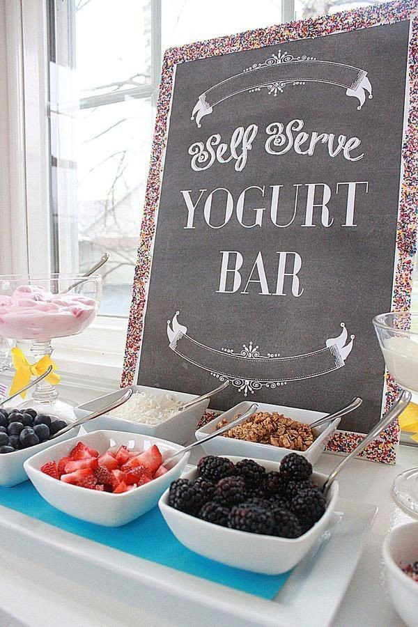 Breakfast and Brunch themed bridal shower ideas