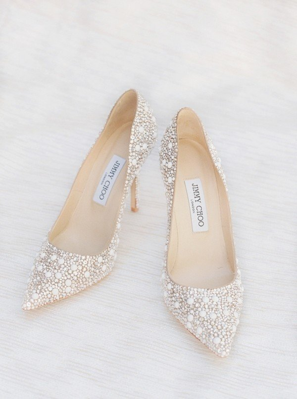 Jimmy Choo bling wedding shoes