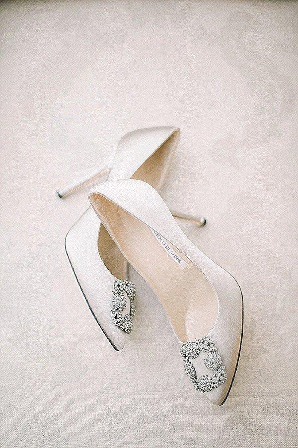 Manolo Blahnik Ivory Wedding Shoes