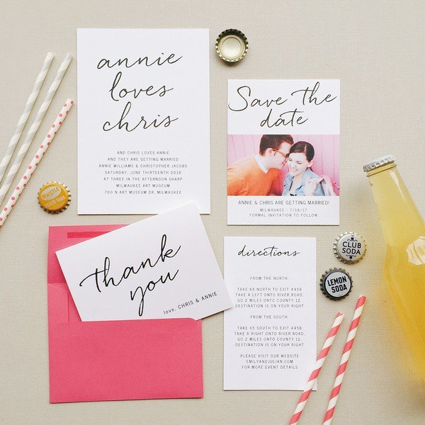 summer wedding invitation ideas with photos