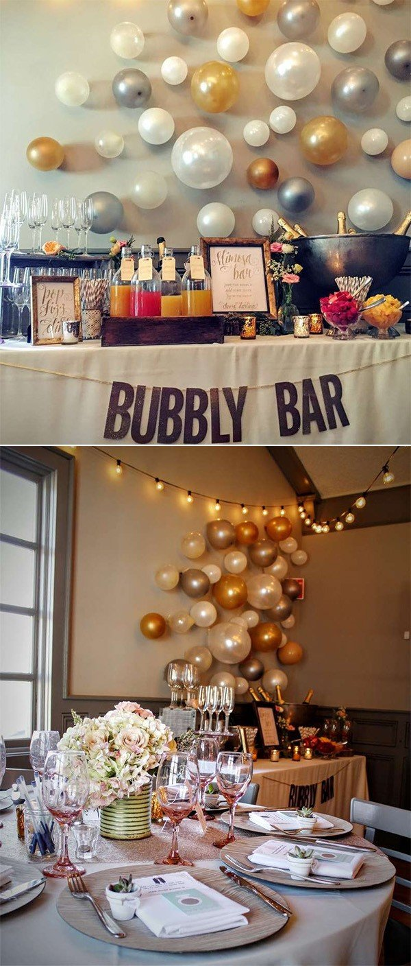 bubbles themed bridal shower decoration ideas