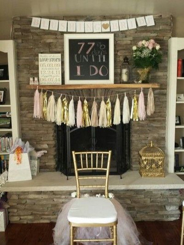 chic rustic bridal shower decoration ideas
