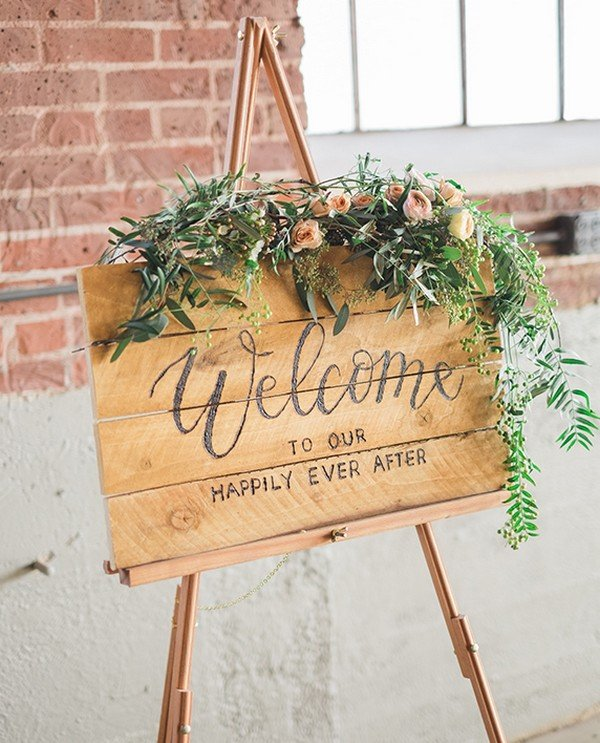 country rustic wedding welcome sign ideas