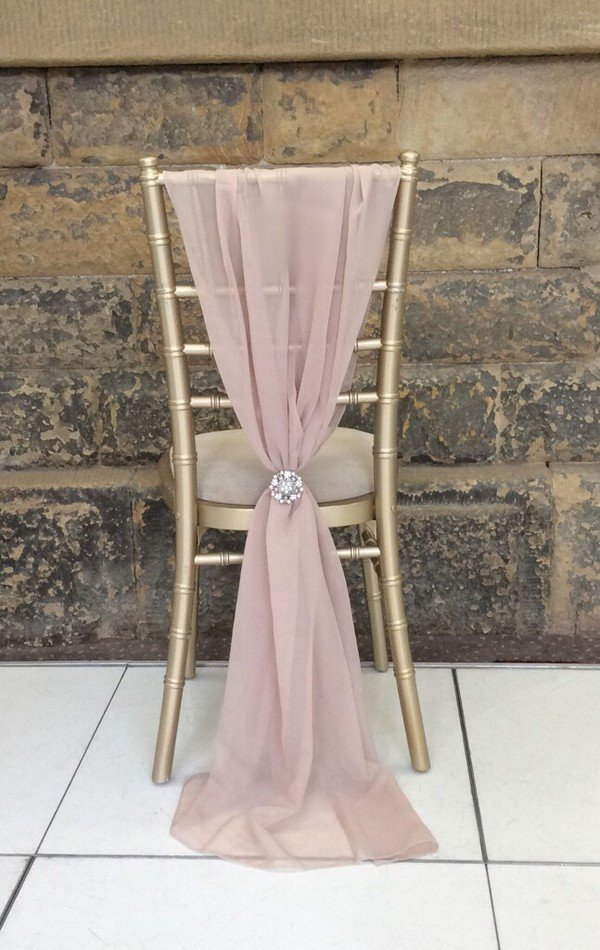 elegant pink and gold wedding chair decoration ideas