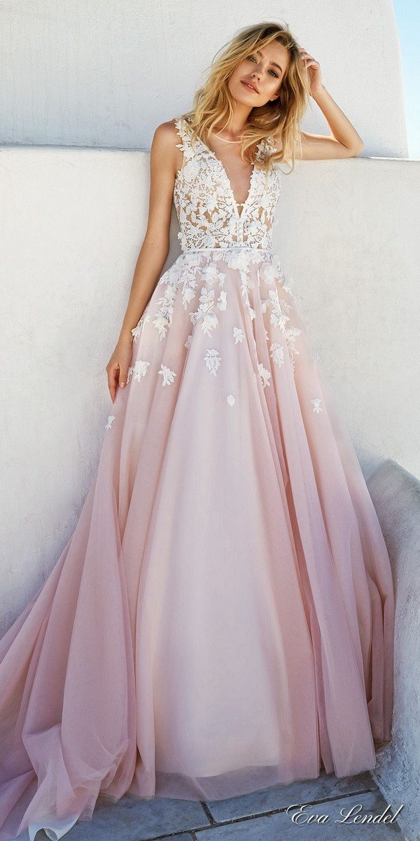 Top 20 vintage wedding dresses for 2017 trends oh best for Pink ombre wedding dress