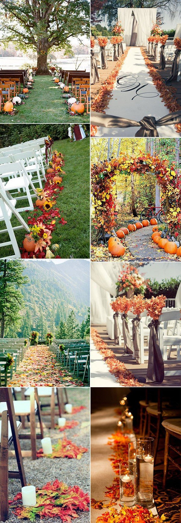fall wedding aisle decoration ideas