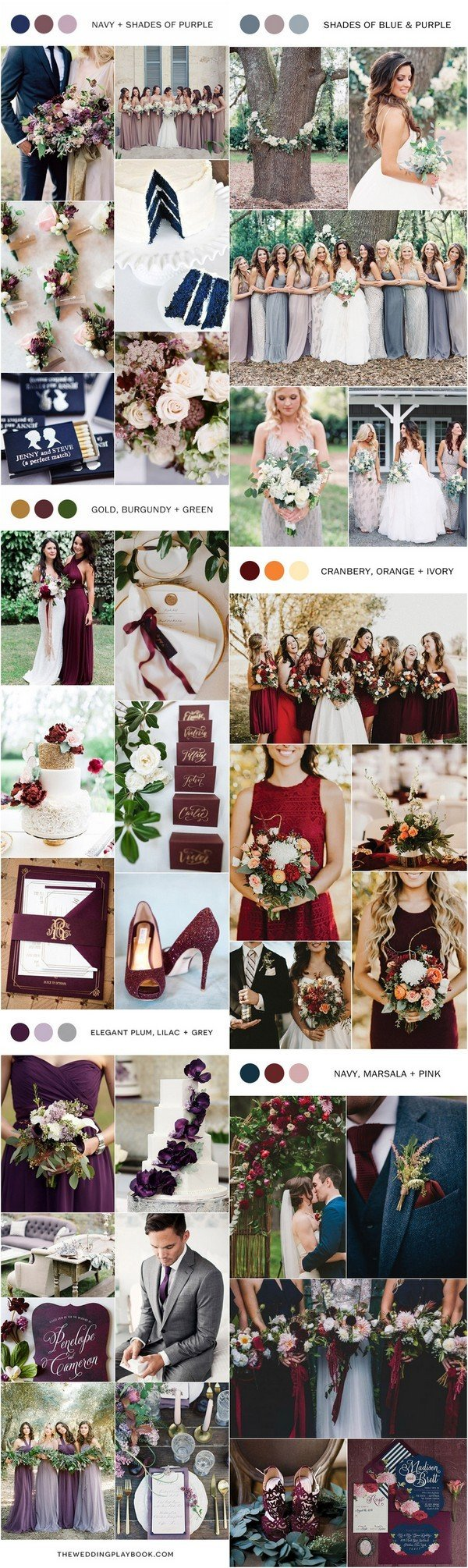 fall wedding color ideas for 2017