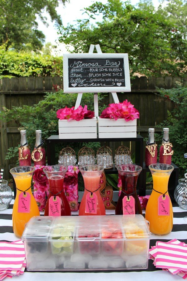 kate spade themed bridal shower food and drink ideas