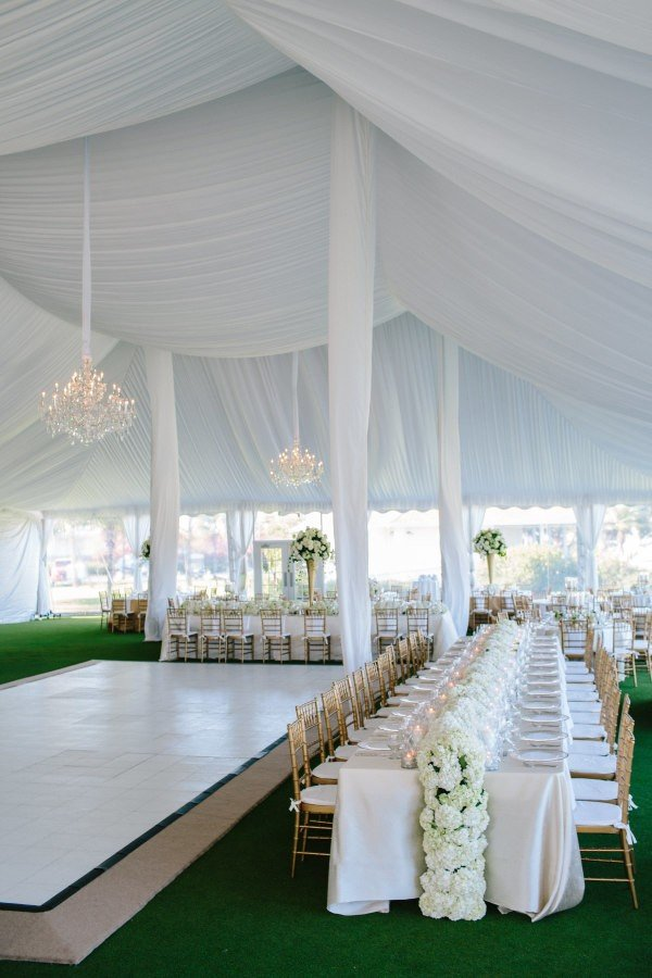 Trending 20 tented wedding reception ideas you ll love for All white wedding decoration ideas