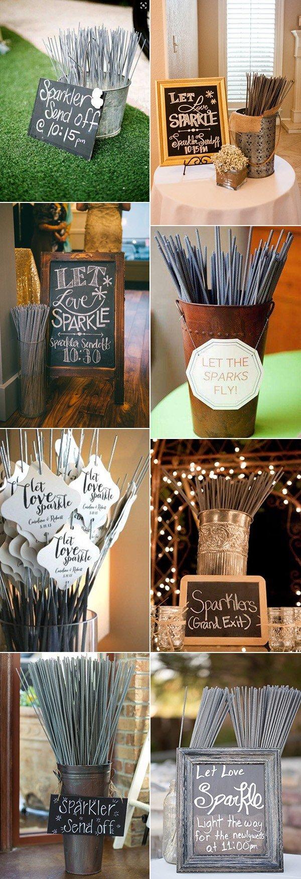 sparklers send off fall wedding ideas