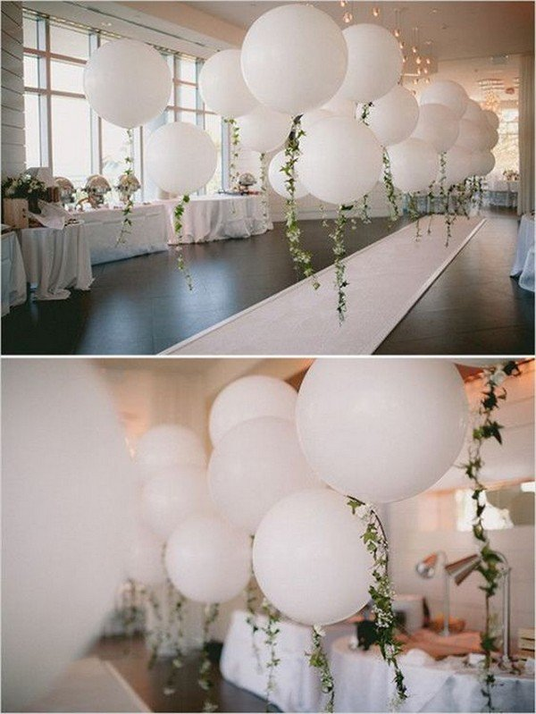 16 romantic wedding decoration ideas with balloons oh best day ever balloon wedding aisle decoration ideas junglespirit Choice Image
