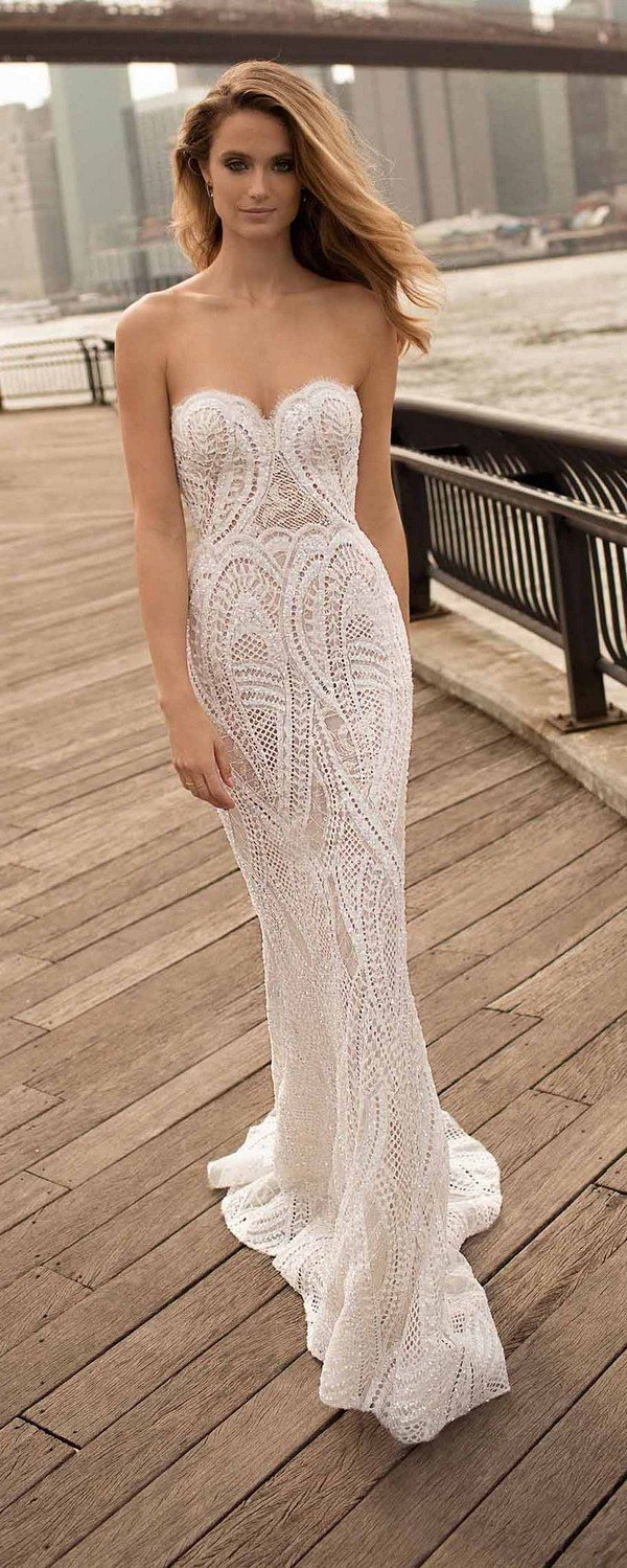 berta 2018 lace strapless wedding dresses 18-27