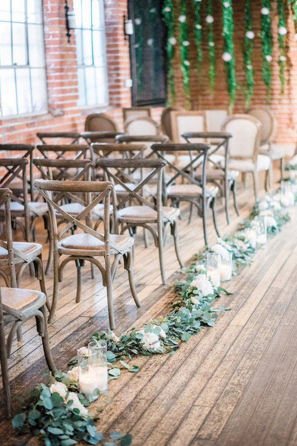 20 breathtaking wedding aisle decoration ideas to steal for Aisle decoration