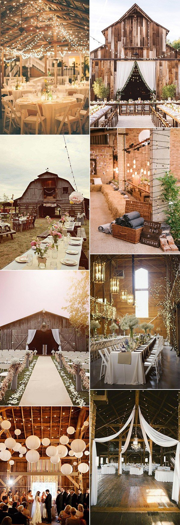 country rustic wedding barn decoration ideas