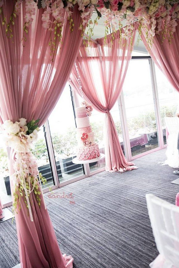 Trending 24 dusty rose wedding color ideas for 2017 oh for Floral wedding decorations ideas