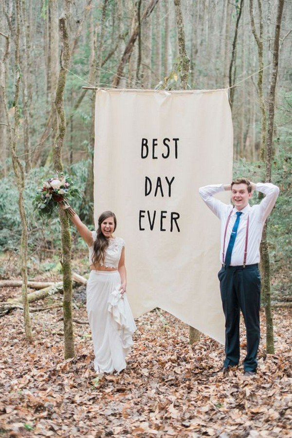 forest wedding inspired simple wedding backdrops