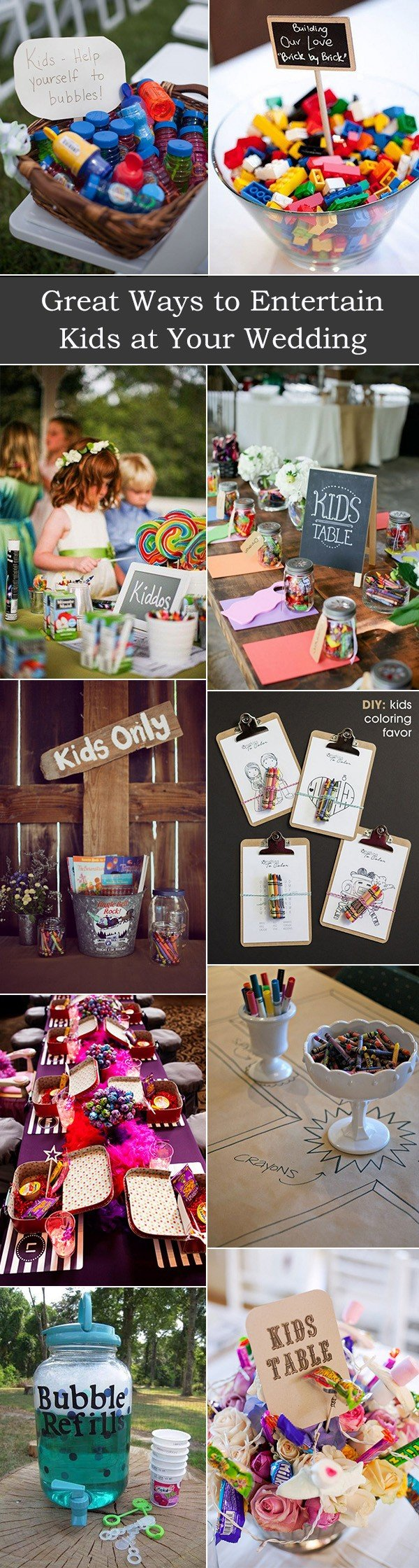 great ways to entertain kids at your wedding day