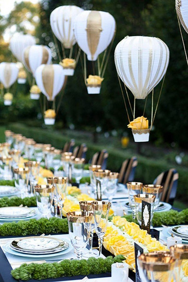hot air balloon wedding centerpieces