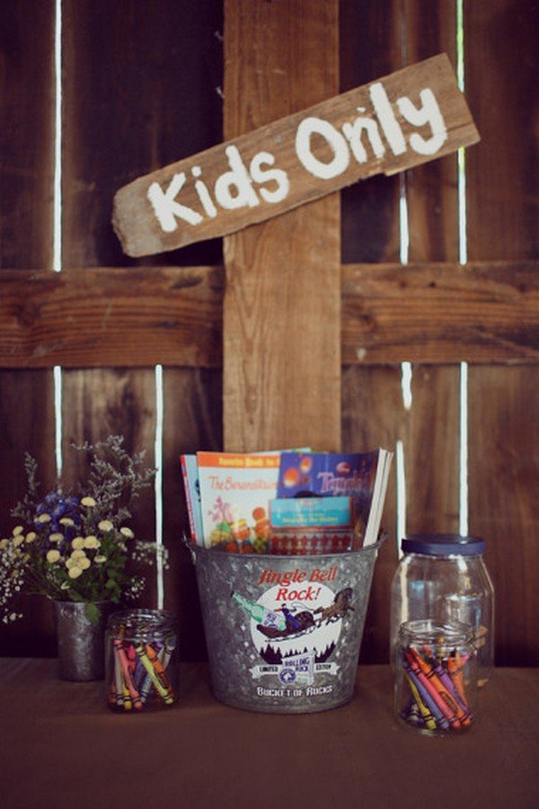 kinds only bar for rustic wedding ideas