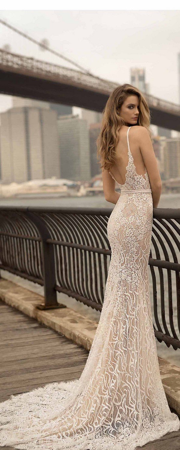 lace low back wedding dresses berta 2018 spring collection 18-24