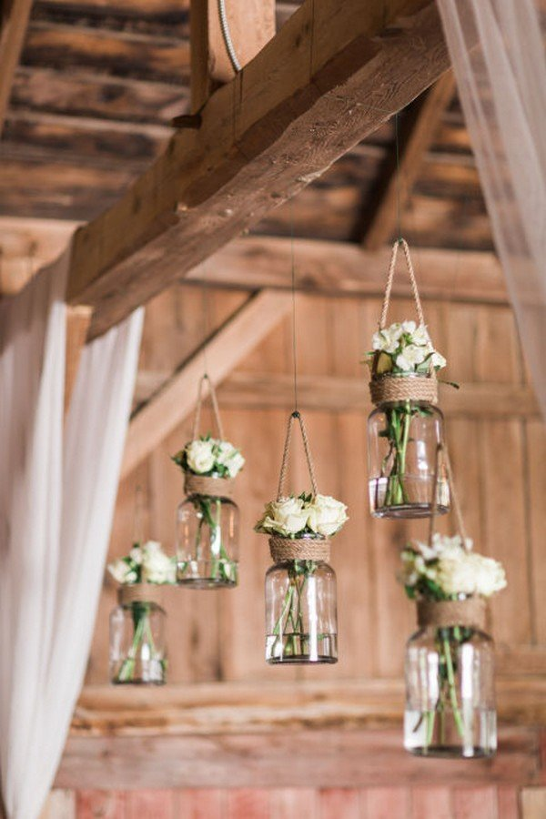 18 perfect country rustic barn wedding decoration ideas for Country wedding reception decorations