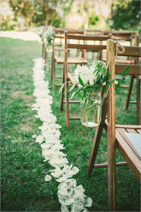 rustic chic wedding aisle ideas