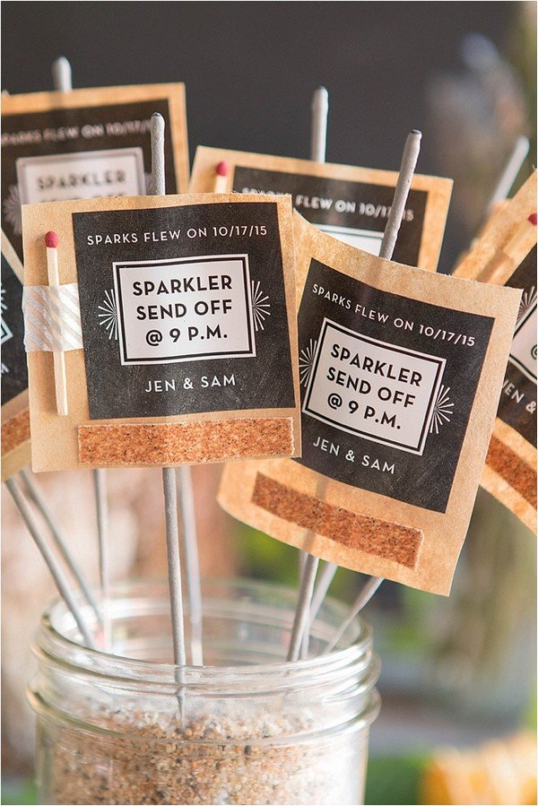 sparklers send off wedding favor ideas