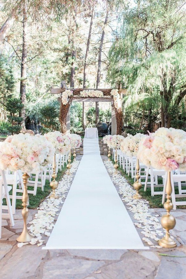 20 breathtaking wedding aisle decoration ideas to steal for Wedding walkway