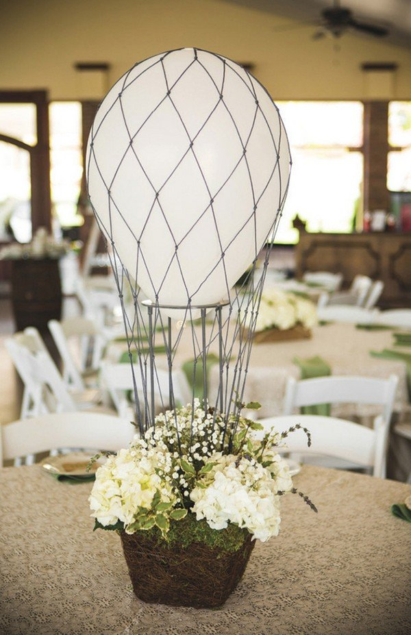 unique wedding centerpiece ideas with balloons