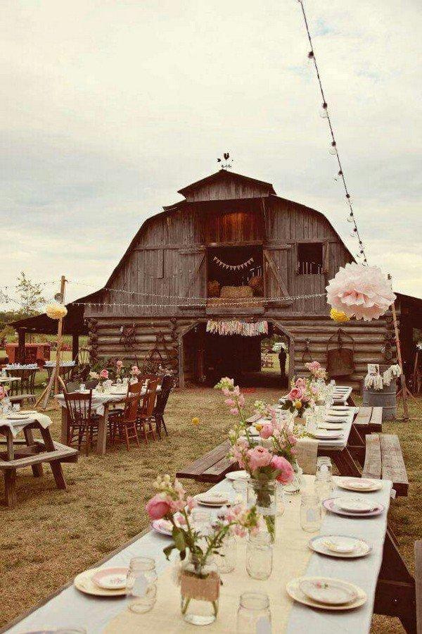 wedding reception decoration ideas for a country barn wedding