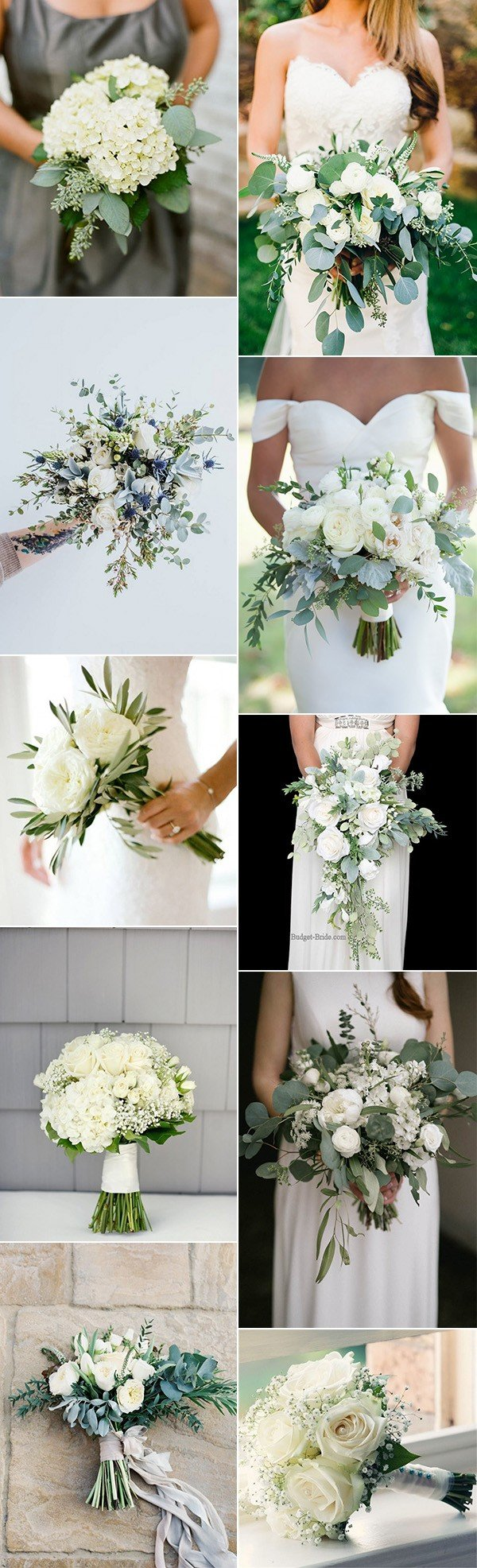 Top 10 white and green wedding bouquet ideas you ll love for Wedding flowers ideas pictures