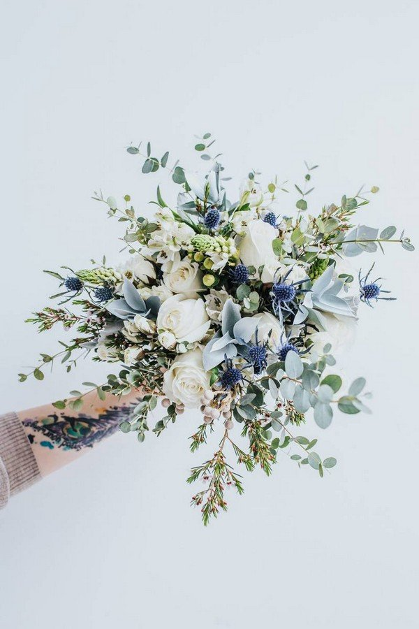 Top 10 white and green wedding bouquet ideas youll love oh best white green and blue wedding bouquet ideas junglespirit Choice Image