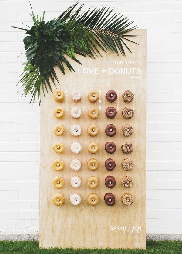 chic donut wall wedding ideas