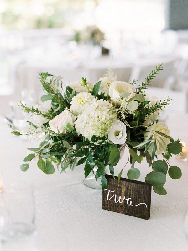 chic greenery wedding centerpiece ideas