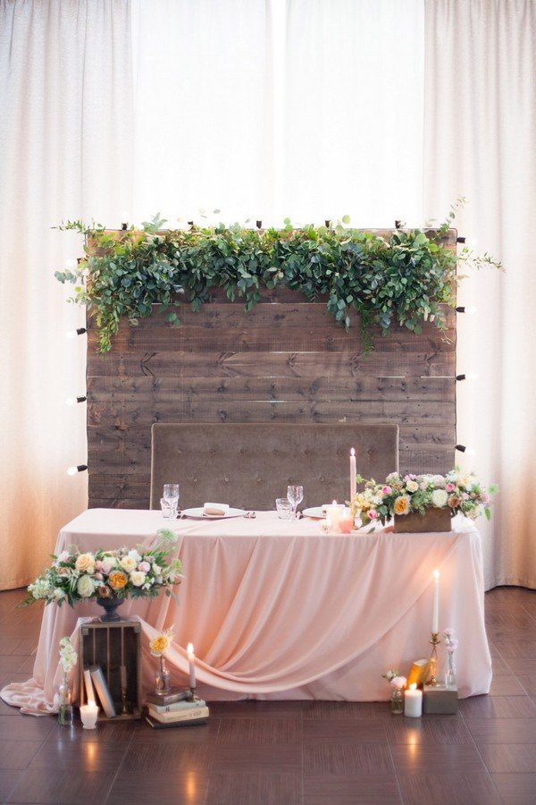 Charmant Chic Rustic Wedding Sweetheart Table Decoration Ideas