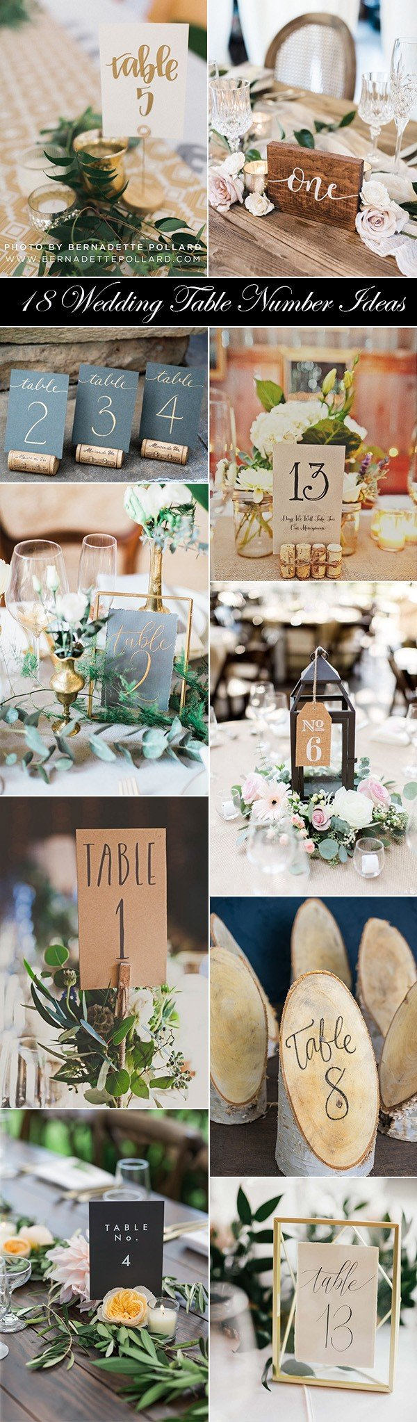 creative wedding table number ideas for 2017 trends