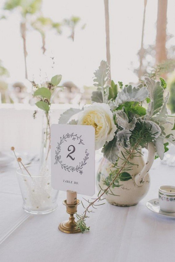 elegant wedding table number ideas