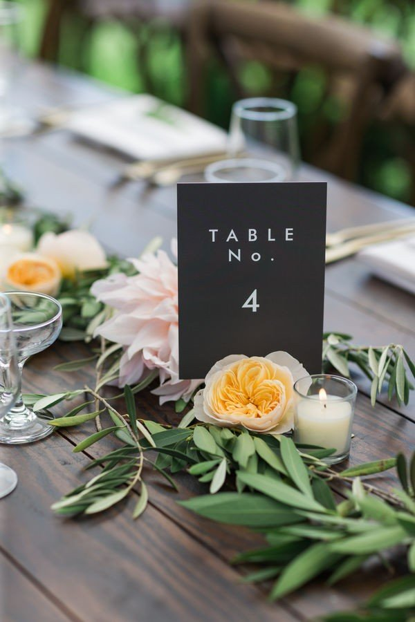 printed wedding table number ideas