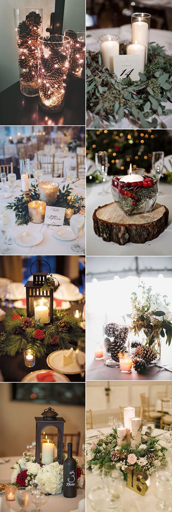 romantic winter wedding centerpiece ideas for 2017