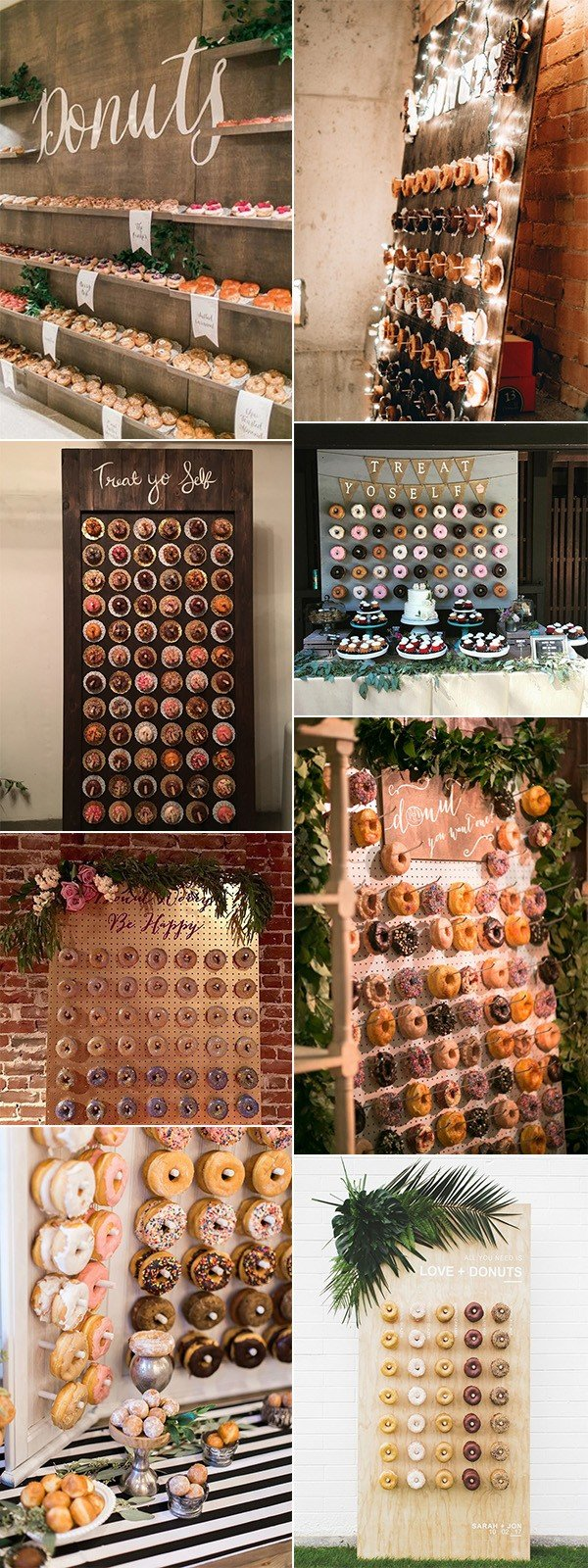 trending wedding donut wall decoration ideas