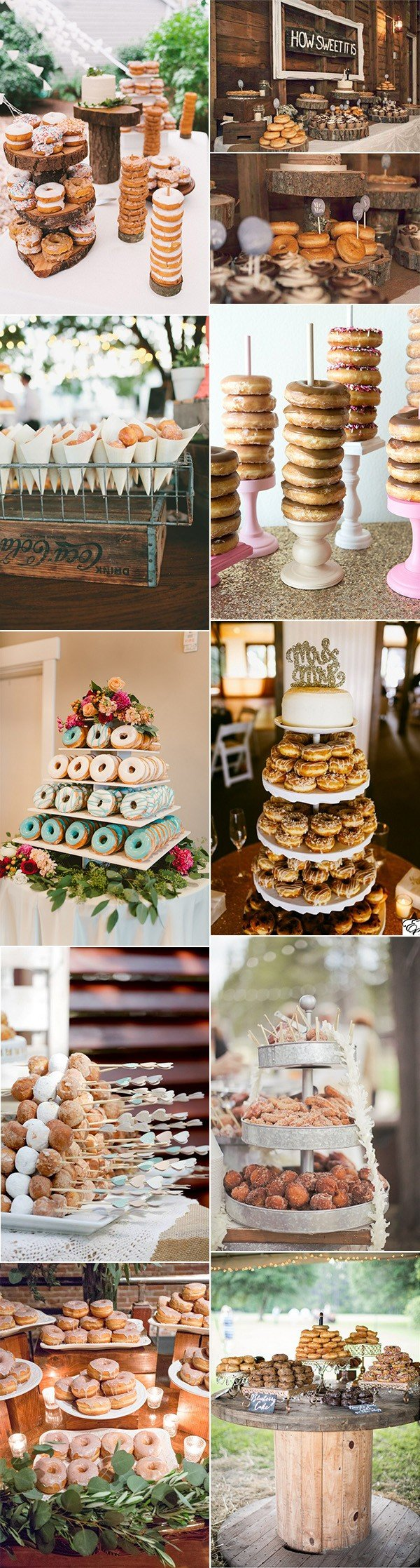 wedding dessert bar ideas with donuts