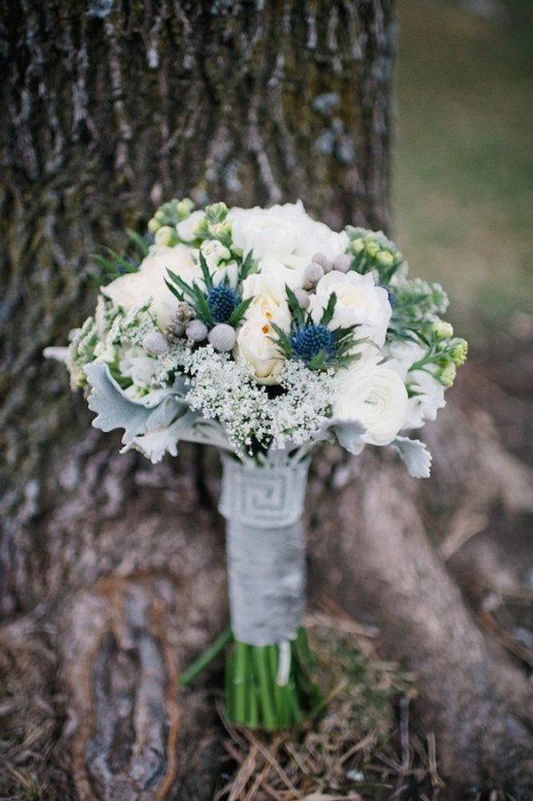 greenery wedding bouquet for 2018 trends