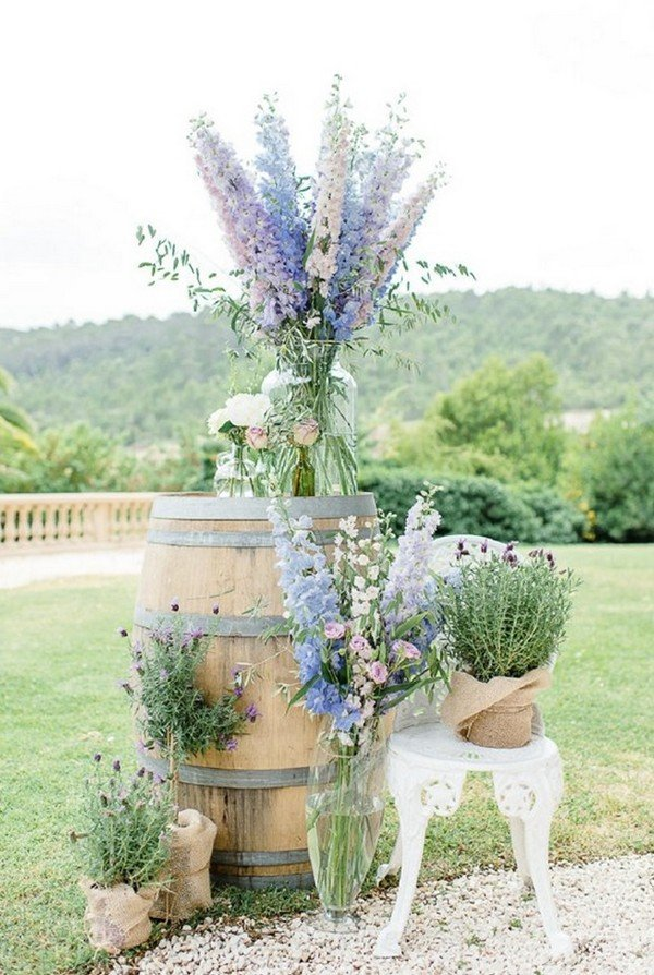 lavender outdoor wedding decoration ideas