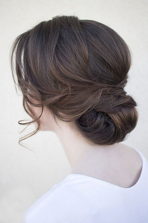 pretty updo vintage wedding hairstyles